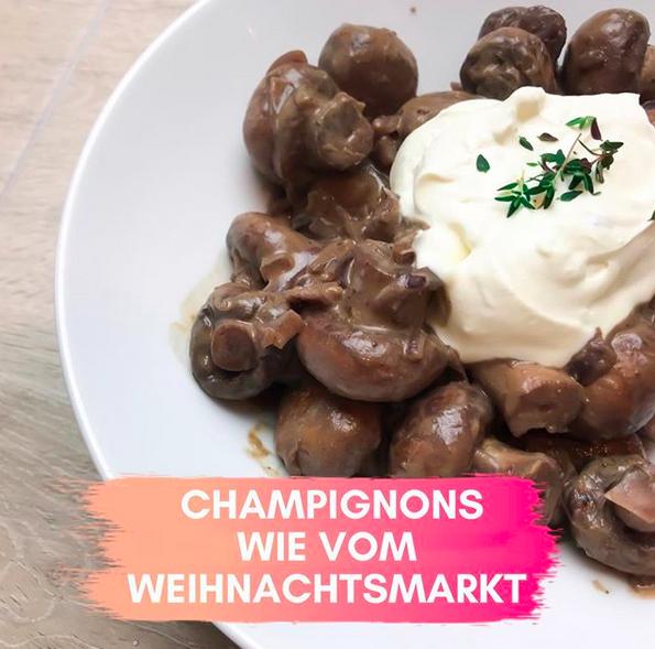 Champignons wie vom Weihnachtsmarkt vegan Rezept