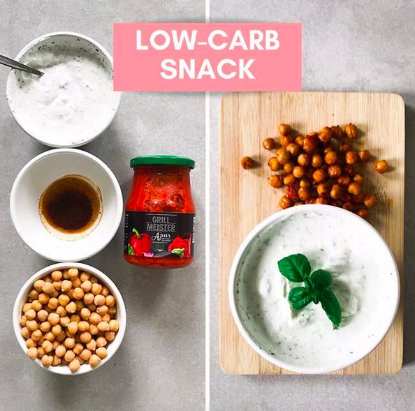 Geabckene Kichererbsen veganer Low-Carb Snack