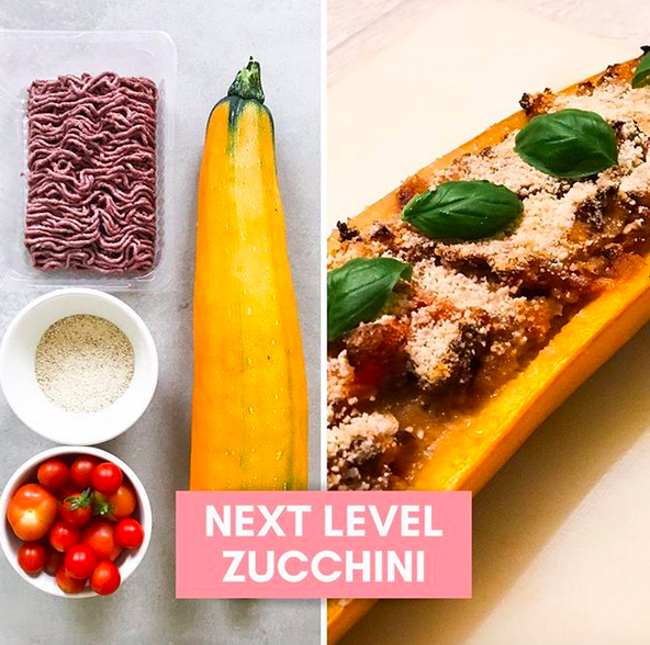Low Carb Zucchini gebacken vegan